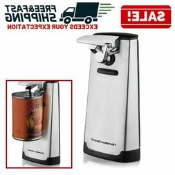Electric Can Opener Stainless Steel Brushed Edge Touch Comme