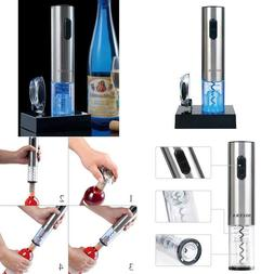 Electric Wine Bottle Opener Stainless Steel Corkscrew With B