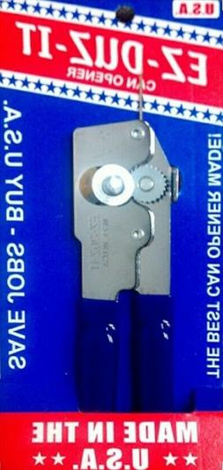 EZ DUZ IT American Made Blue Grips Manual Junior Can Opener