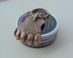 "GRIZZLY BEAR CLAW SNUFF CAN LID OPENER COPPER COLOR ""NEW/UNU"