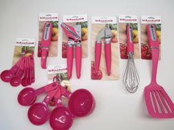 KitchenAid hot pink, summer sunset kitchen cooking utensils