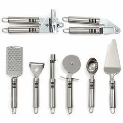 HULLR 8-Piece Stainless Steel Kitchen Gadget Tools Set, Grat