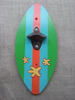 Island Striped Surfboard Bottle Opener