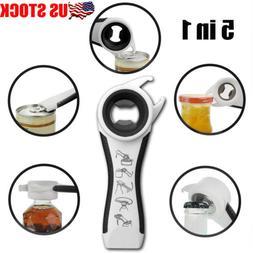 Kitchen Gadget Multi-Tool 5 in 1 Opener Bottle Soda Can Jell