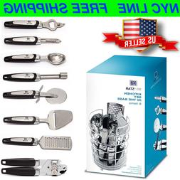 Kitchen Gadget Tool Set 8 Piece Stainless Steel Kitchen Uten