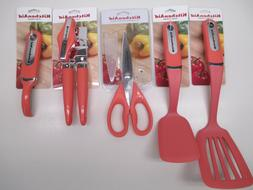 KitchenAid kitchen utensils in coral peach orange