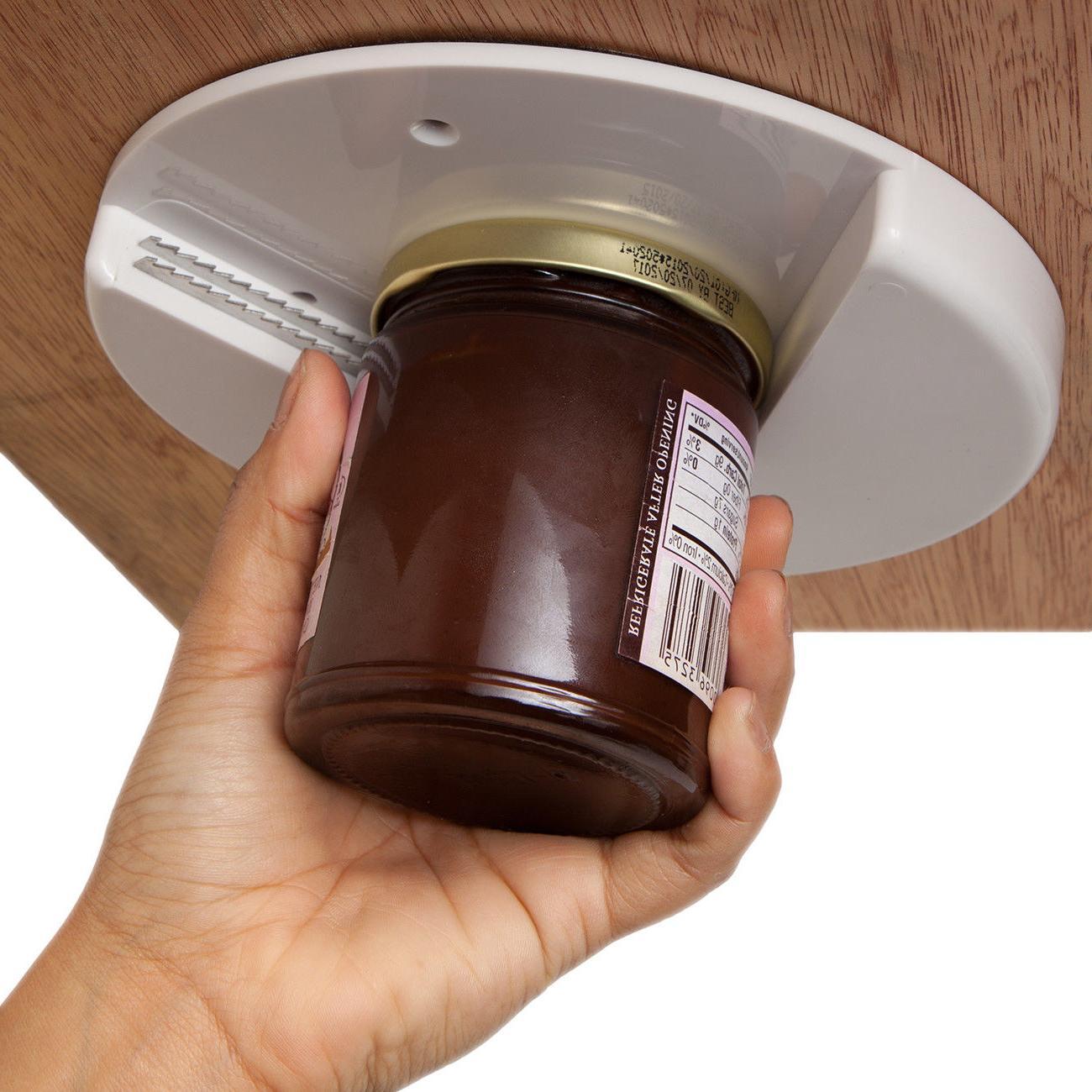 1x Single Hand Jar Cap Kitchen Tools Under Cabinet