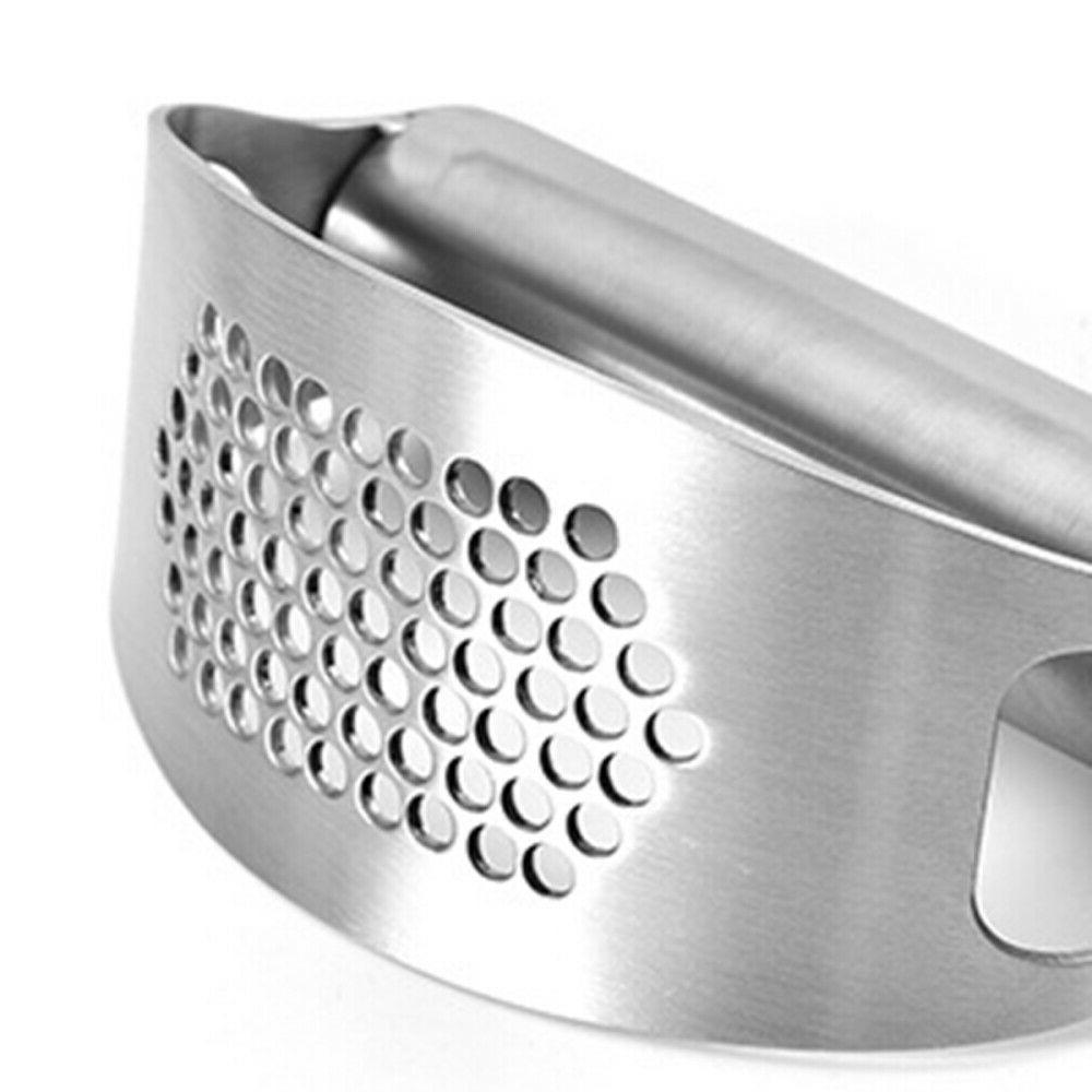 2 Garlic Press Stainless Steel Squeezer Tool