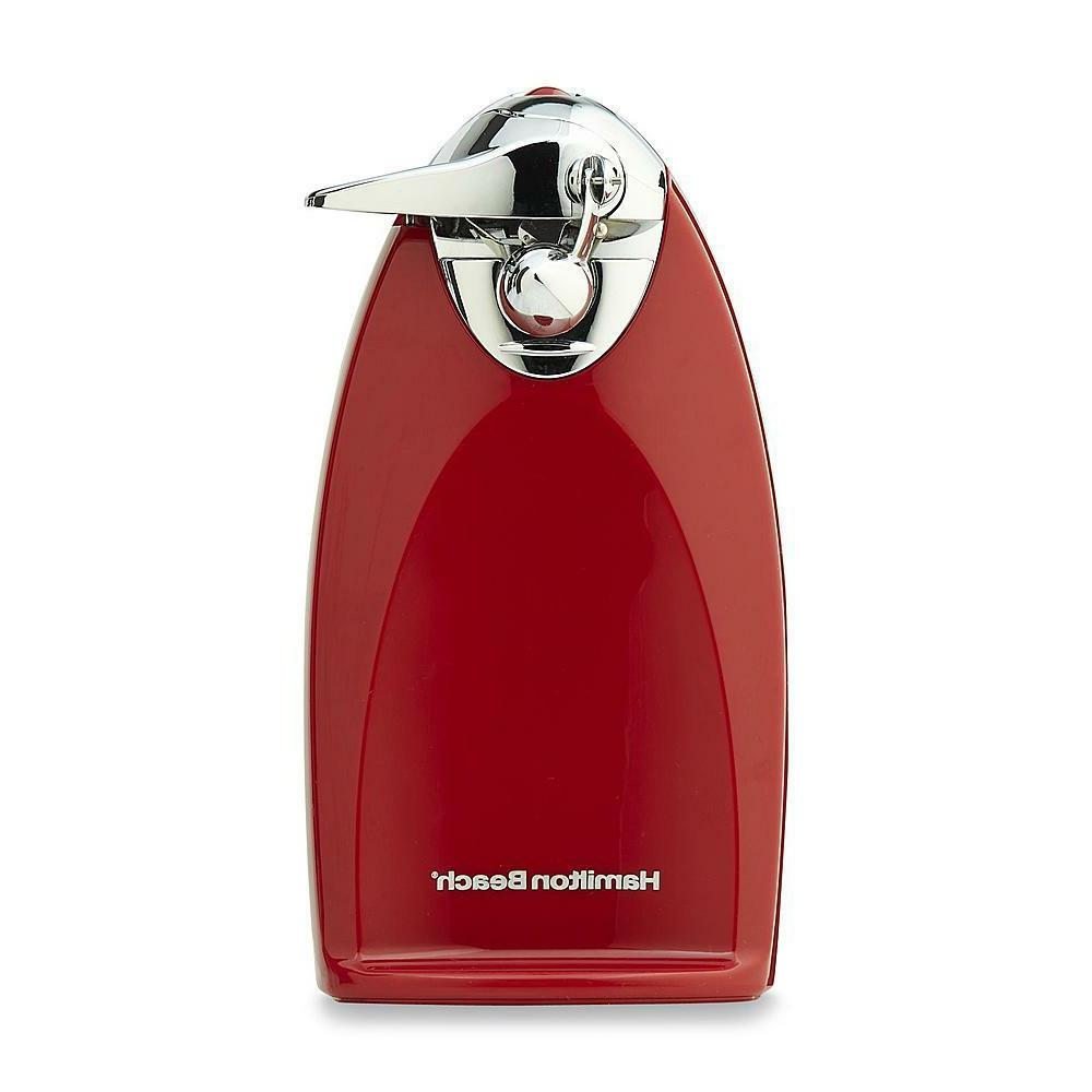 Hamilton Beach Red Electric Can Opener Tall Back Knife Sharp