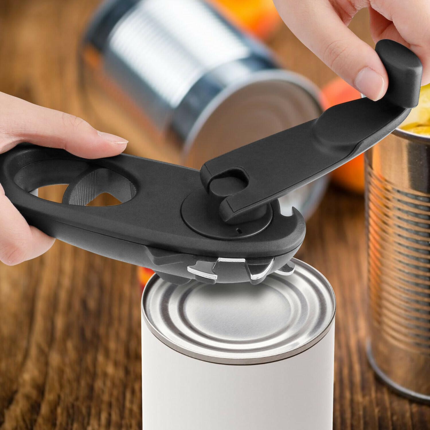 8in1 Opener Safety Manual Opener Smooth Edge Kitchen Tool
