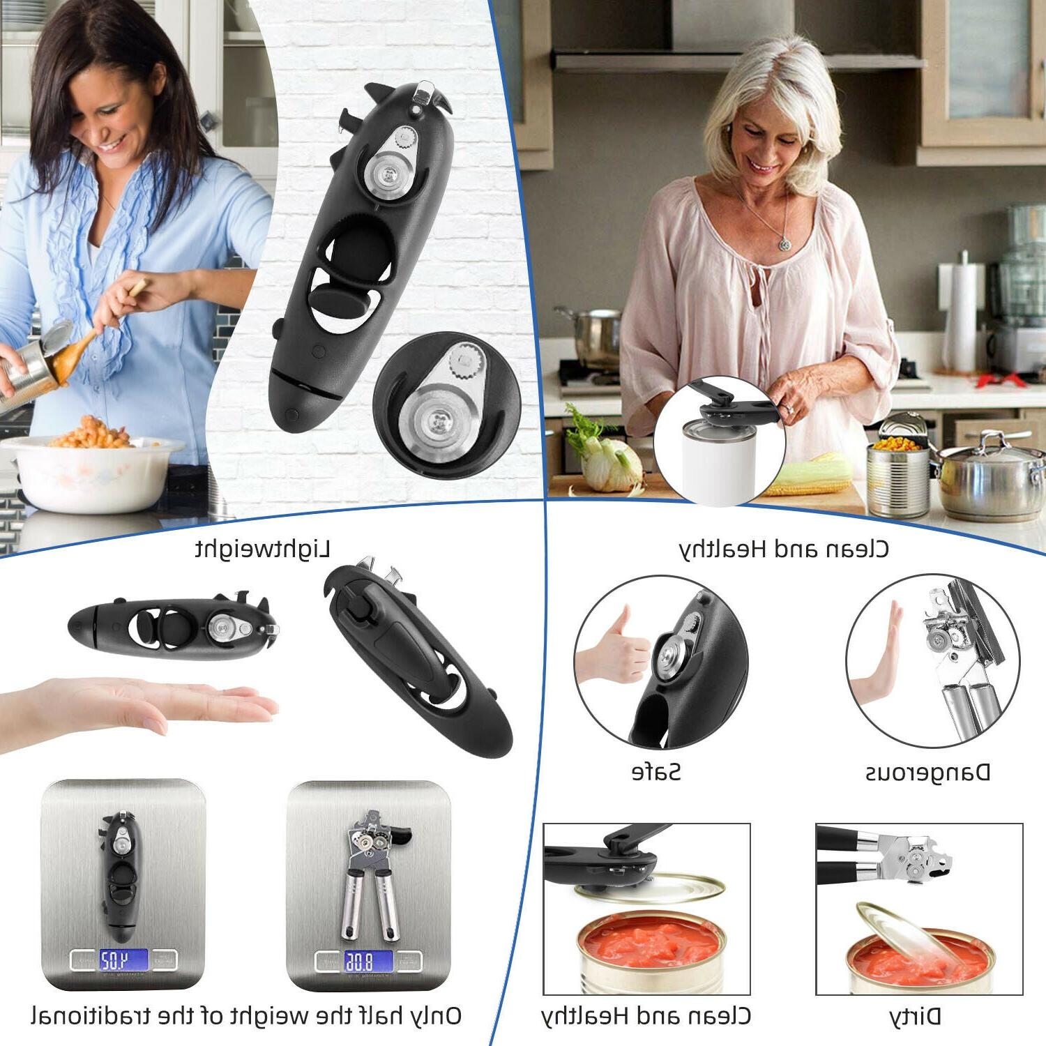 8in1 Can Lid Safety Opener Edge Household Kitchen Bar Tool