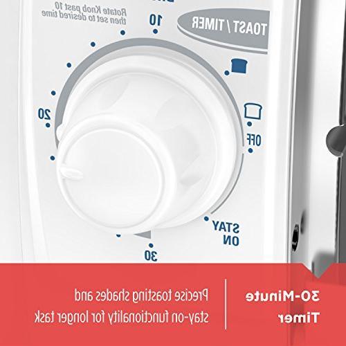 Black Decker 4 Slice Toaster Oven White Tro420