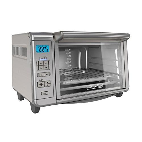 BLACK+DECKER 6-Slice Digital Convection Countertop Toaster O