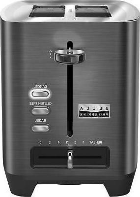 Bella - Pro Series 2-Slice Extra-Wide-Slot Toaster - Black s