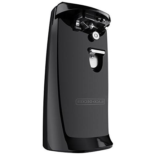 Black Decker Can - 3.09 lb Auto Opener, Easy Touch Lever, Removable Blade, Cord Top Opener - Black
