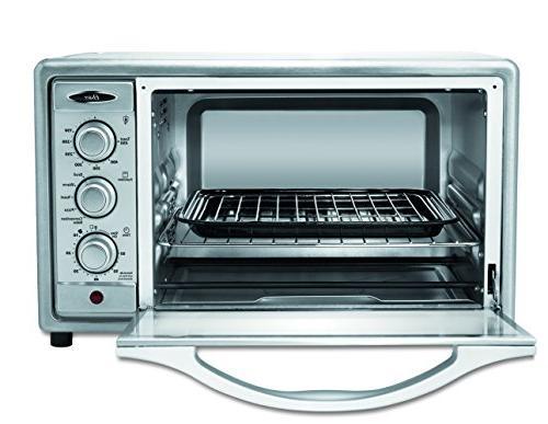 Oster Toaster 6 Slice, Brushed Steel