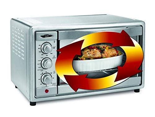 Oster Convection Toaster 6 Slice, Brushed Stainless Steel