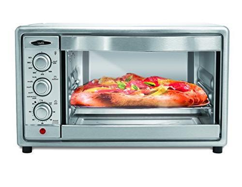 Oster Oven, 6 Slice, Steel