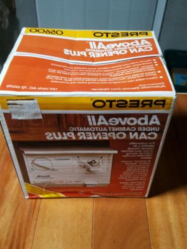 Presto Aboveall Under Cabinet Automatic Can Opener Plus