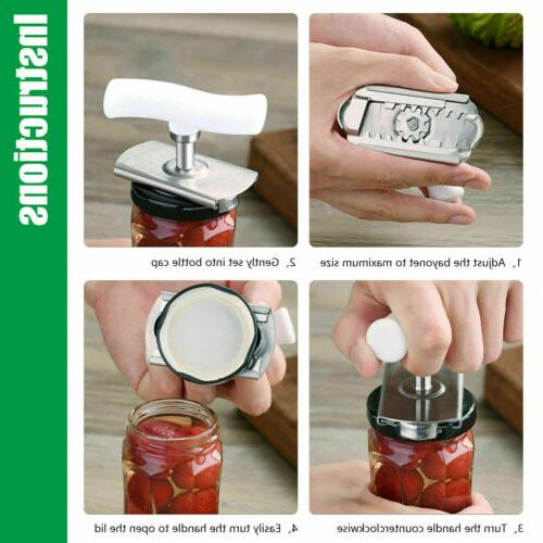 Adjustable Jar Lid Remover Stainless Grip