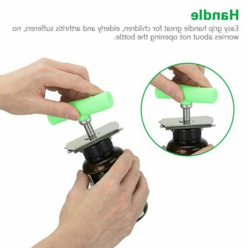 Adjustable Lid Bottle Jar Stainless Off Grip