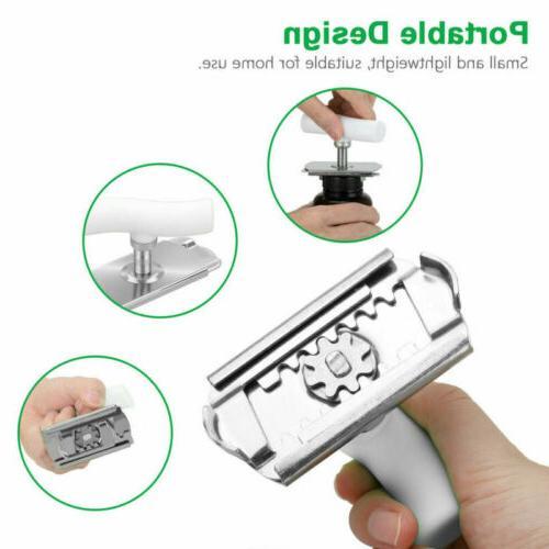 Adjustable Lid Jar Stainless Steel Grip