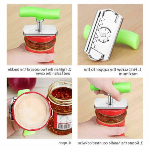 Adjustable Lid Bottle Can Jar Opener Stainless Off