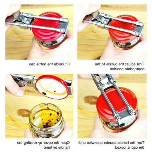 Adjustable Multifunctional Can Opener Gripper Good