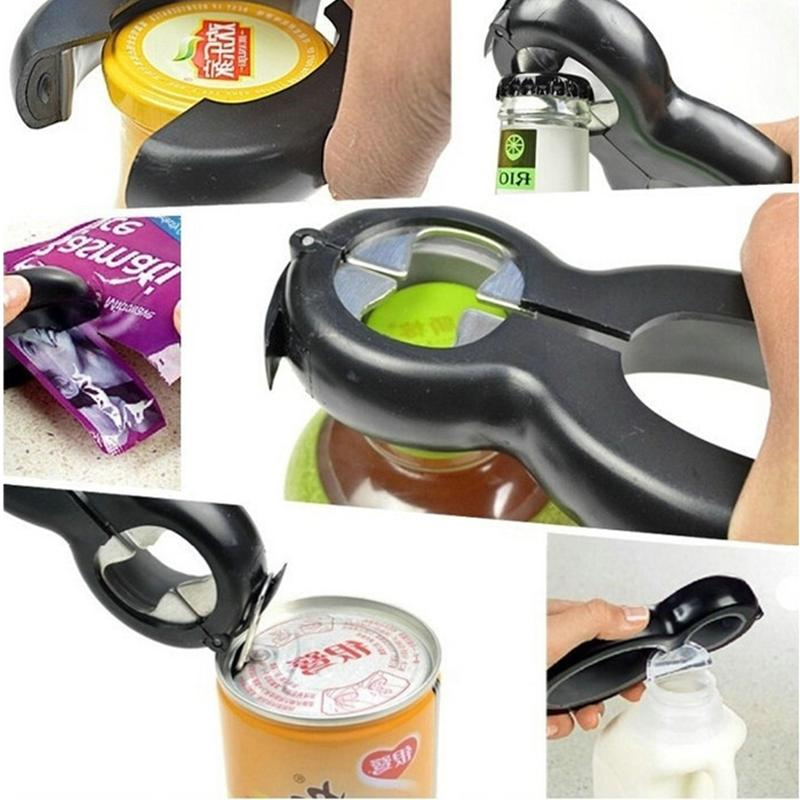 All In One Bottle Opener Jar Can Kitchen Manual Tool Gadget