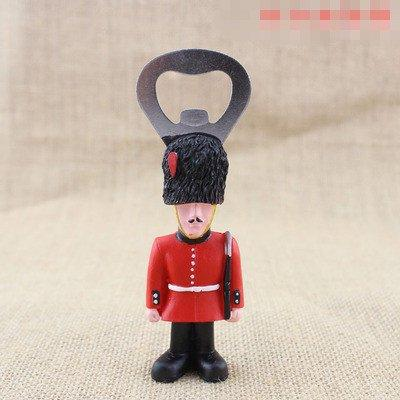 armed guardsmen fridge magnet bottle