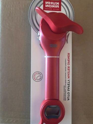 auto safety master can opener color red