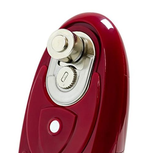 Ovente Can Automatic, Leaves Smooth Touch Manual Start Operated, Lightweight, Maroon