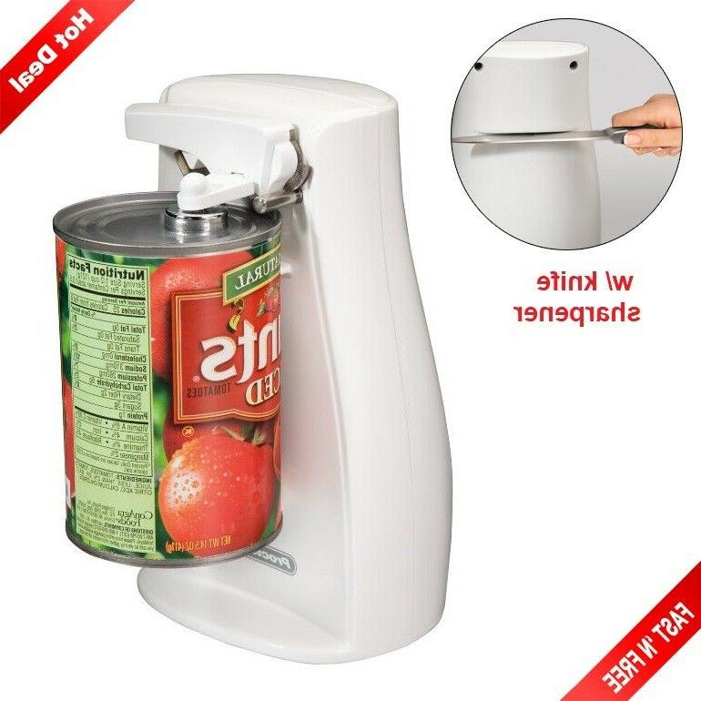 electric can opener with knife sharpener automatic