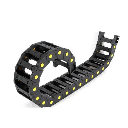 Black Can 2pcs Drag Chain Universal For Electronic Equipment