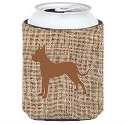 Boxer Burlap and Brown Can or Bottle Beverage Insulator Hugg