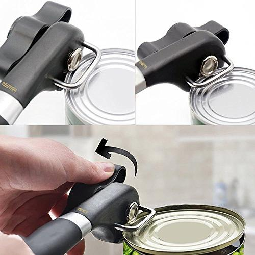 Can Opener, Best Manual Can Easy Open – Ergonomic, Duty, Professional Bottle Open for Kitchen, Restaurant, Camping