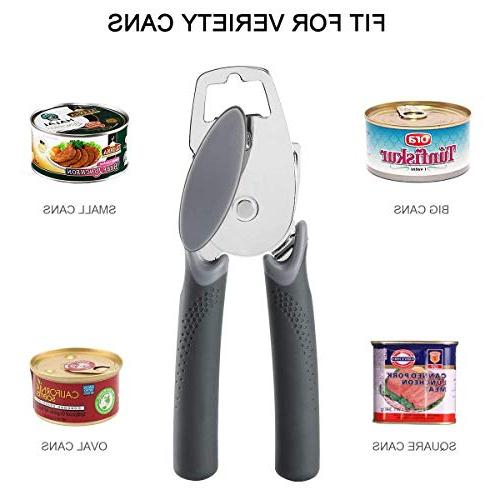 Can Can Opener Smooth Edge Good Built-in Bottle - Held Stainless Steel Opener