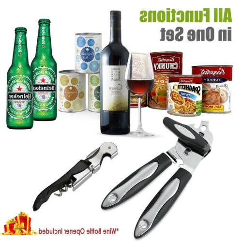Can Opener Manual Stainless Steel Bottle Opener Tin Opener Smooth