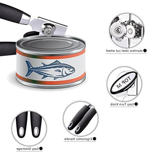 Can Opener Stainless Can Bottle Edge Heavy Duty Kitchen Can Comfort Grip Tin/Jar/Bottle/Cans