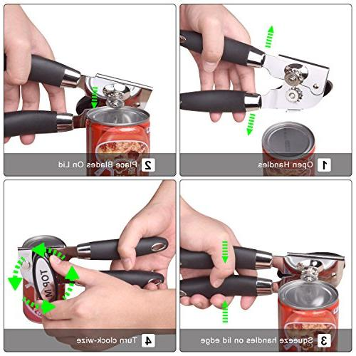 Can Opener Stainless Steel Can Bottle Edge Can good Grip Tin/Jar/Bottle/Cans Opener