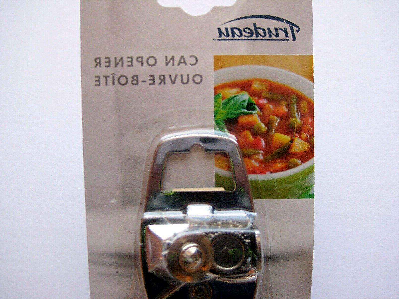 Trudeau Can Opener with Integrated Bottle Opener, NEW!!!