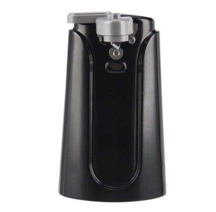 can opener with knife sharpener black