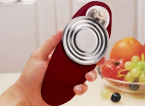 Ovente Smooth Electric Can Opener Cordless Battery-Operated