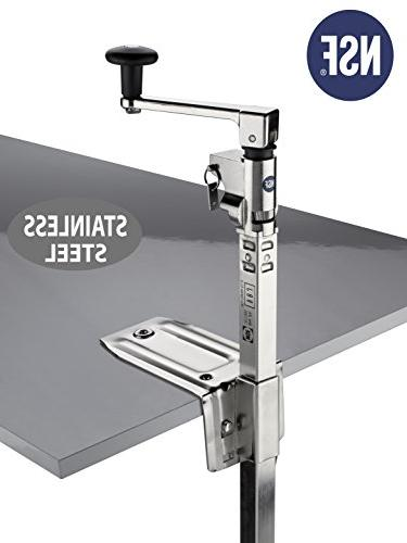 BOJ Commercial Can Opener NSF Restaurant Medium Duty Table 1