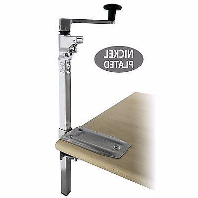 "BOJ Commercial Grade Can Opener Heavy Duty Table Mount 19"""