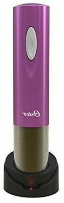 Oster Cordless Electric Wine Bottle Opener MAGENTA PINK foil