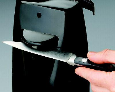 Durable Power Can with Knife Sharpener Black