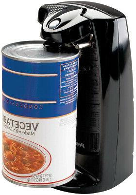Durable Can Opener with Sharpener Black Electric