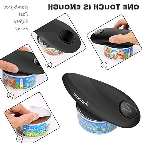 Electric Can Opener, Batteries Operated Edge Automatic Can Opener for Arthritis