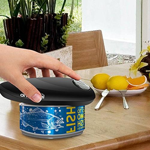 Electric Can Opener, 2AA Batteries Operated Edge Arthritis
